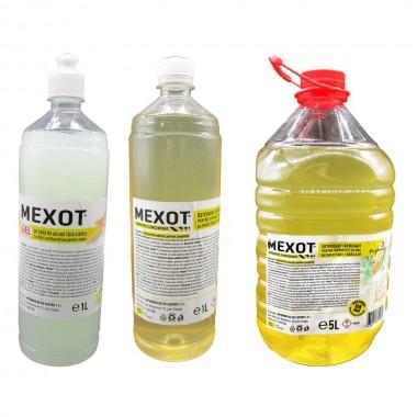 Pachet solutii dezinfectante cu Mexot - Gel 1L si Mexot - Solutie concentrata pentru suprafete, 1L+5L