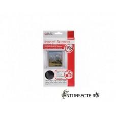 Plasa anti insecte pentru ferestre 100x100 cm - alba/neagra