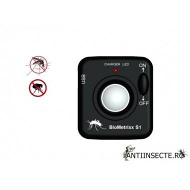 Aparat portabil anti tantari, purici cu ultrasunete - Biometrixx S1
