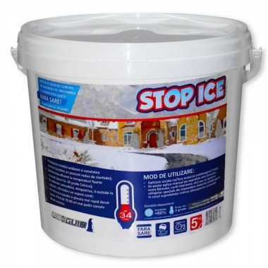STOP ICE-produs biodegradabil pentru prevenire / combatere gheata 5kg